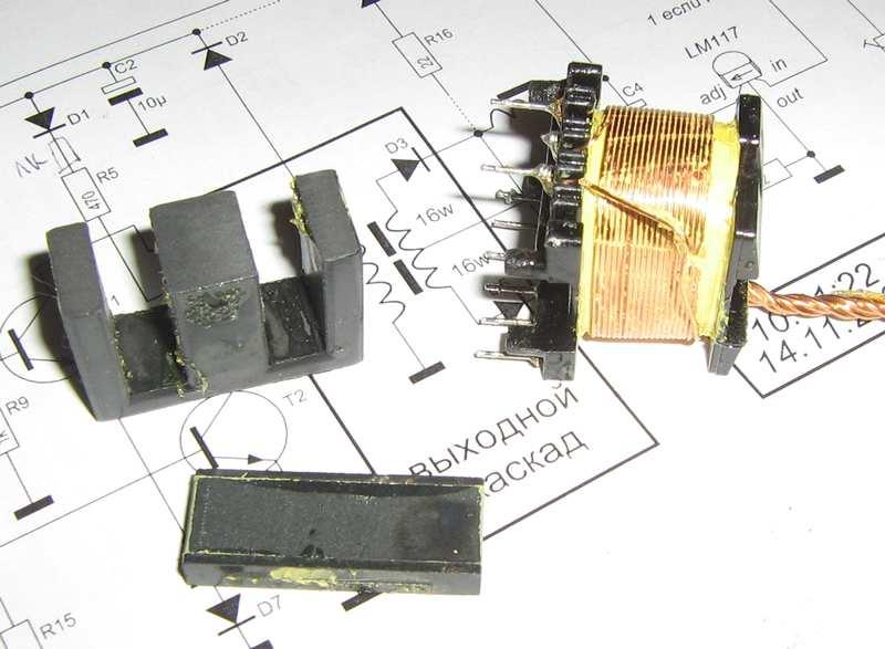 Схема мини трансформатора тесла.  Схемы производства мебели.